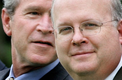 GEORGE W. BUSH, KARL ROVE