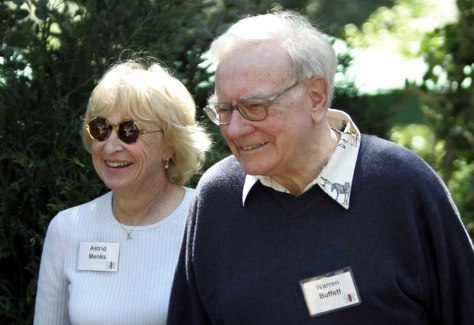 Image: Warren Buffett and Astrid Menks.