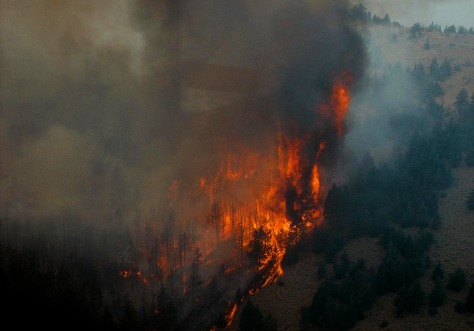 IMAGE: FIRE ON MOUNTAINSIDE