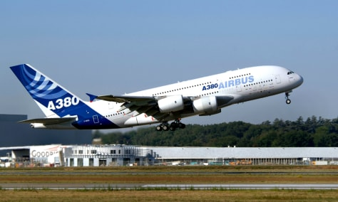 IMAGE: Airbus A380 takes off