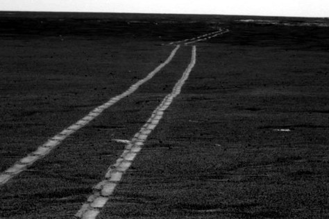 Images: Opportunity wheel tracks