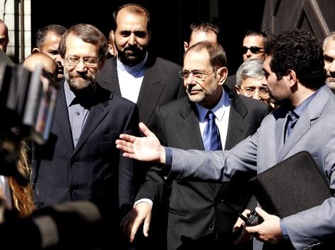 Ali Larijani, Javier Solana