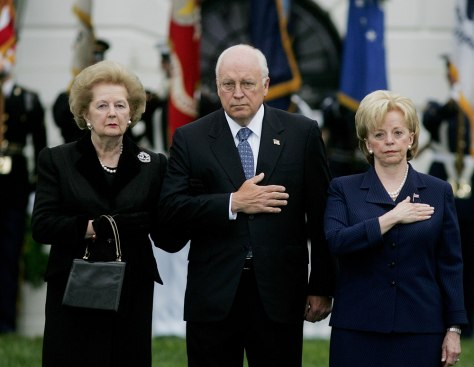 Dick Cheney, Lynne Cheney, Margaret Thatcher