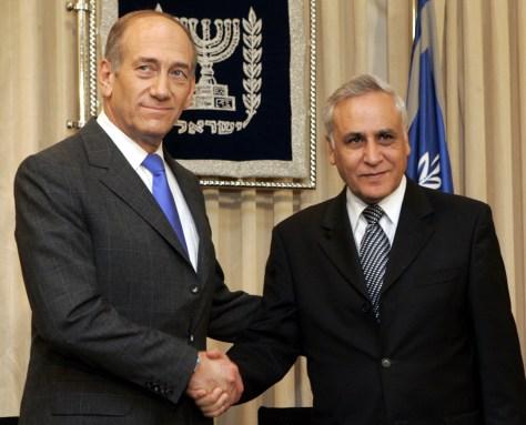 Moshe Katsav, Ehud Olmert