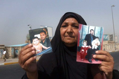 IMAGE: Iraqi woman seeks missing sons