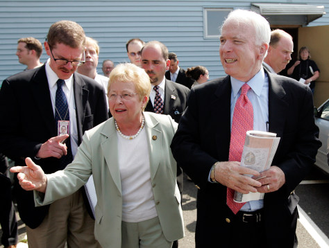 Nancy Johnson, John McCain