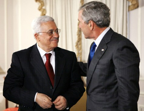 President Bush meets with Palestinian President Abbas in New York