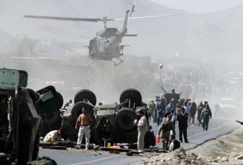 Image: Blast site in Afghanistan.