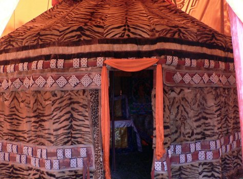 IMAGE: TENT ALLEGEDLY MADE WITH TIGER SKINS