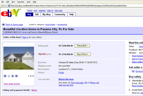 Home for sale on eBay.