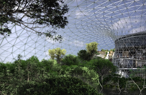 IMAGE: ILLUSTRATION OF EARTHPARK DOME, FOREST