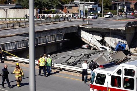 Image: Broken overpass
