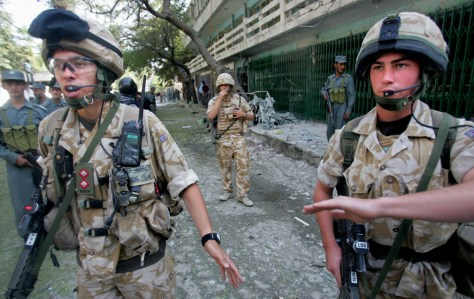 Image: British soldiers in Kabul