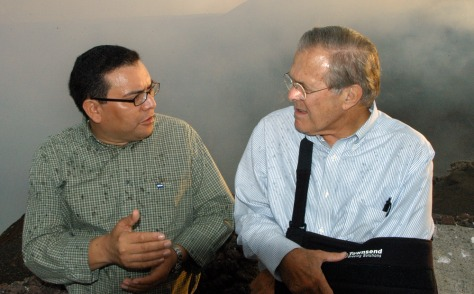 Image: Rumsfeld and Ramirez