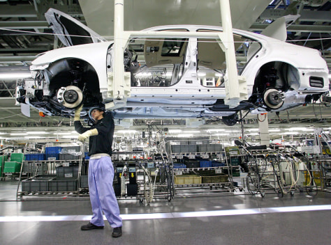 A Toyota worker