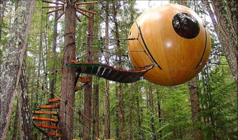 Free Spirit Sphere tree house