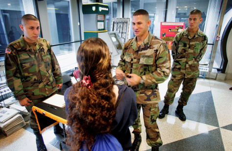 should the military be allowed to recruit at high schools Halt the military invasion of catholic schools by military recruiting services know what's in high school students should have a choice about whether.