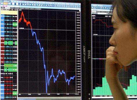 IMAGE: South Korean stocks plunge