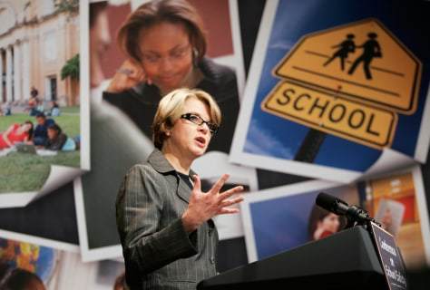 IMAGE: Education Secretary Margaret Spellings