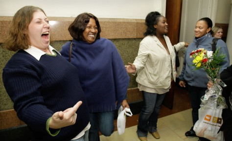 Image: Michele Braun, left, Patricia Holley, Jacqueline Copeland, and Delores Killingsworth-Barber
