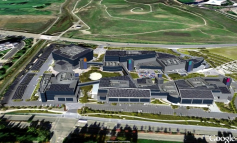 IMAGE: RENDERING OF SOLAR PANELS AT GOOGLE CAMPUS
