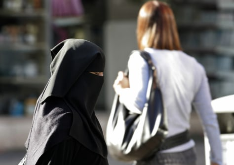 Image: Muslim woman in England