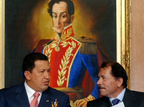 IMAGE: Hugo Chavez and Daniel Ortega