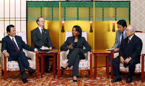 IMAGE: Rice meets with Japanese ministers