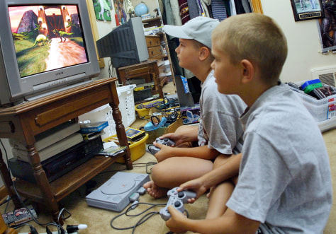 Image: Kids Playing Violent Video Games
