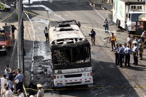 IMAGE: Burned bus