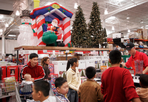 Image: Christmas decorations at Costco