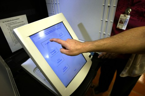 Touchscreen voting machine