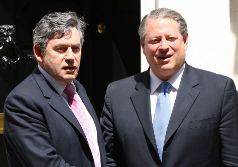 IMAGE: GORDON BROWN AND AL GORE