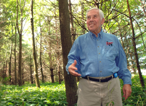 IMAGE: Richard Lugar with walnut trees
