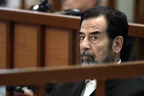 IMAGE: Iraqi leader Saddam Hussein