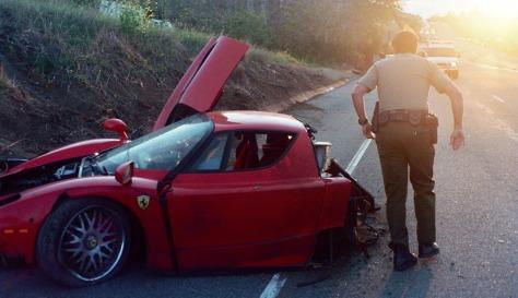 IMAGE: Ferrari wreckage