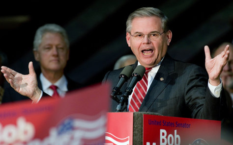 Image: Menendez and Clinton