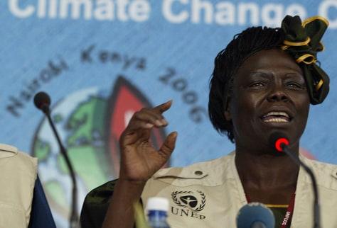 Kenyan 2004 Nobel peace prize laureate W