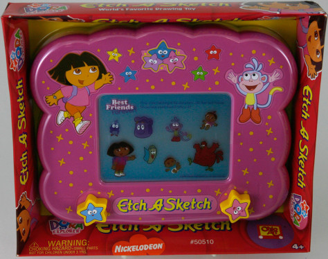 Image: Dora the Explorer version of Etch A Sketch