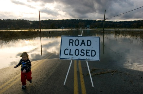 IMAGE: ROAD CLOSED DUE TO FLOODING
