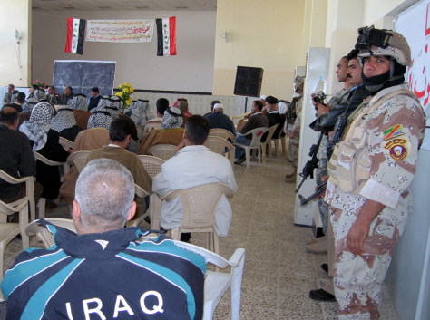 Image: Community meeting in Baghdad