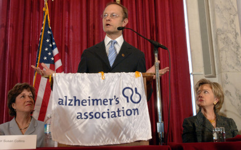 Image: David Hyde Pierce speaks at a Capitol Hill meeting on Alzheimer's disease