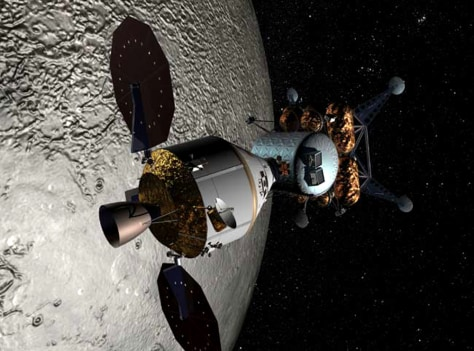 Image: Orion and moon lander
