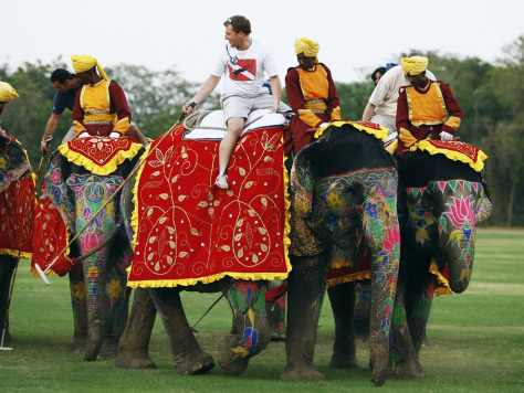 IMAGE: ELEPHANTS USED FOR POLO