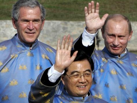 Image: Bush, Putin, Hu