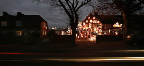 Christmas Decorations Displayed in Berkshire