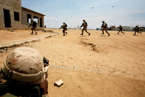 Marines Train Before Deployment To Iraq
