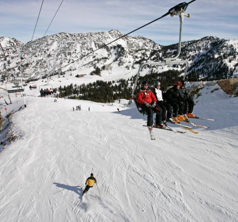 Image: Skiiers