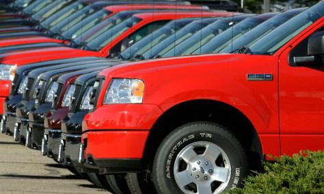 Image: Ford trucks
