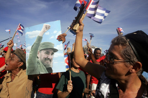 Image: Castro supporters